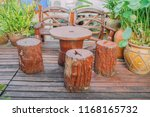 southern wooden cafe coffee... | Shutterstock . vector #1168165732