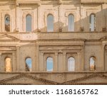 roman antique white limestone... | Shutterstock . vector #1168165762