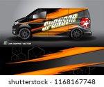cargo van and car decal design... | Shutterstock .eps vector #1168167748