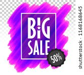 template banner big sale... | Shutterstock .eps vector #1168168645