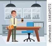 businessman at office | Shutterstock .eps vector #1168169272