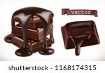 chocolate. 3d realistic vector... | Shutterstock .eps vector #1168174315