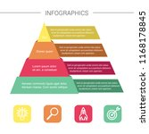 layered pyramid chart diagram.... | Shutterstock .eps vector #1168178845