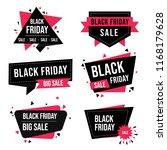 set of black friday sale labels ... | Shutterstock .eps vector #1168179628