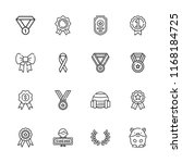 collection of 16 medal outline... | Shutterstock .eps vector #1168184725