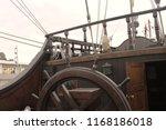wheel of pirate ship | Shutterstock . vector #1168186018