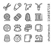 sewing icon set | Shutterstock .eps vector #1168187218