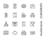 collection of 16 communication...   Shutterstock .eps vector #1168188355