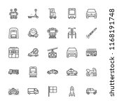 collection of 25 vehicle... | Shutterstock .eps vector #1168191748