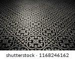floral tiles floor. interior...
