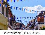 oktoberfest decoration in the... | Shutterstock . vector #1168251082