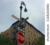 corner of bedford street and... | Shutterstock . vector #1168263082