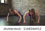 sportswomen high fiving after...   Shutterstock . vector #1168266412
