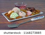 ice cream with mixed crispy... | Shutterstock . vector #1168273885