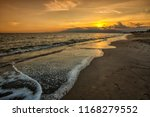 landscape of the sunset in the...   Shutterstock . vector #1168279552