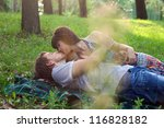 Young Couple On A Romantic...