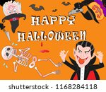 on the day of halloween  jack o'... | Shutterstock .eps vector #1168284118