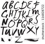 vector alphabet. hand drawn... | Shutterstock .eps vector #116828722