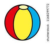 color plastic ball beach...   Shutterstock .eps vector #1168299772
