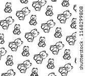 grunge bear teddy cute toy...   Shutterstock .eps vector #1168299808