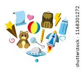 baby toys nice things style   Shutterstock .eps vector #1168301272