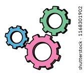 color industry gears...   Shutterstock .eps vector #1168301902
