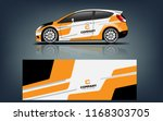 car decal wrap design vector.... | Shutterstock .eps vector #1168303705