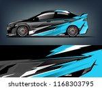 car decal wrap design vector....   Shutterstock .eps vector #1168303795