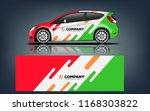 car decal wrap design vector.... | Shutterstock .eps vector #1168303822