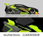 car decal wrap design vector.... | Shutterstock .eps vector #1168303828