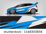 car decal wrap design vector.... | Shutterstock .eps vector #1168303858