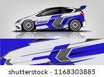 car decal wrap design vector.... | Shutterstock .eps vector #1168303885