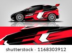 car decal wrap design vector.... | Shutterstock .eps vector #1168303912