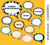 textured speech bubbles set ... | Shutterstock .eps vector #116830852