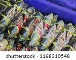 fresh horse crab | Shutterstock . vector #1168310548