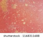 dirty stain on red concrete... | Shutterstock . vector #1168311688