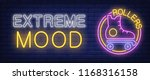 extreme mood neon sign. rollers ...   Shutterstock .eps vector #1168316158