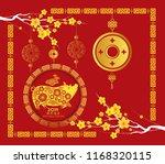 chinese new year 2018 lantern... | Shutterstock .eps vector #1168320115