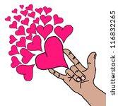 valentine day heart background | Shutterstock . vector #116832265