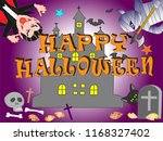 on the day of halloween  jack o'... | Shutterstock .eps vector #1168327402