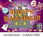 on the day of halloween  jack o'... | Shutterstock .eps vector #1168327408