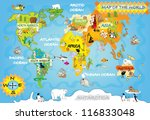 kids world map | Shutterstock . vector #116833048