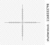 sniper scope  scale. crosshairs ... | Shutterstock .eps vector #1168333798
