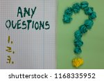 text sign showing any questions.... | Shutterstock . vector #1168335952