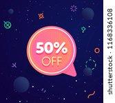 50  off discount sticker.... | Shutterstock . vector #1168336108