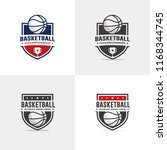 basketball logo set | Shutterstock .eps vector #1168344745