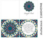 cards or invitations set with... | Shutterstock .eps vector #1168345948