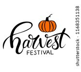 hand sketched autumn lettering... | Shutterstock .eps vector #1168351138