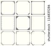 vector decorative frames  set... | Shutterstock .eps vector #116835286
