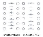 vintage decor elements and... | Shutterstock .eps vector #1168353712